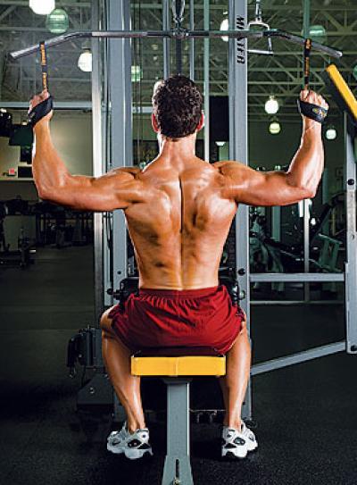 健身房练背的器械及动作要领